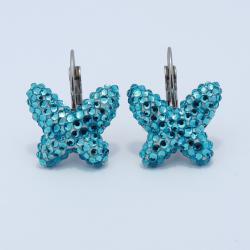 Kék pillangós fülbevaló