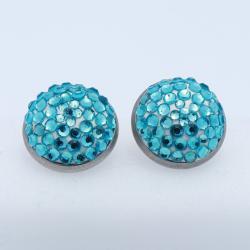 Kék gömb fülbevaló