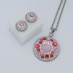 Pink-silver szett