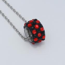 Fekete-piros gyöngy nyaklánc